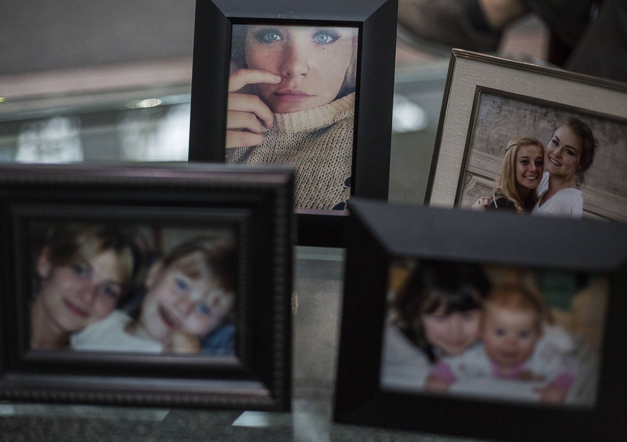 Family photographs of Payton Beck-Glessner on Oct. 16, 2020, in Everett. (Olivia Vanni / The Herald)