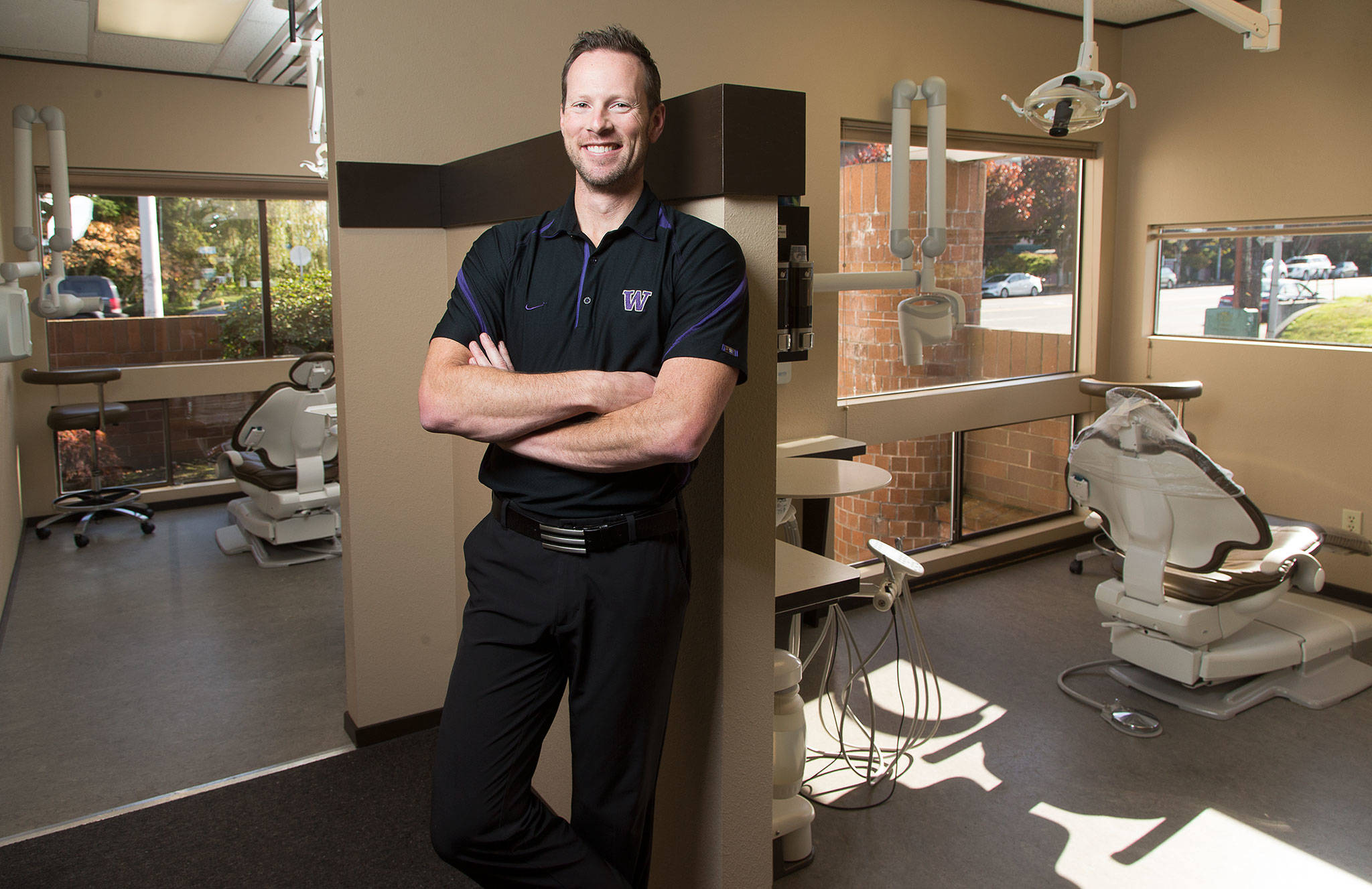 Dr. Kale Eckland and his two brothers are local dentists. They developed a private dental plan while their offices were shut due to COVID-19 last spring. (Andy Bronson / The Herald)