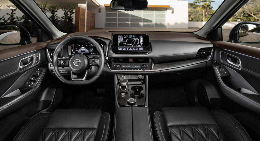 High style, comfort, and functionality are hallmarks of the 2021 Nissan Rogue interior. (Nissan)