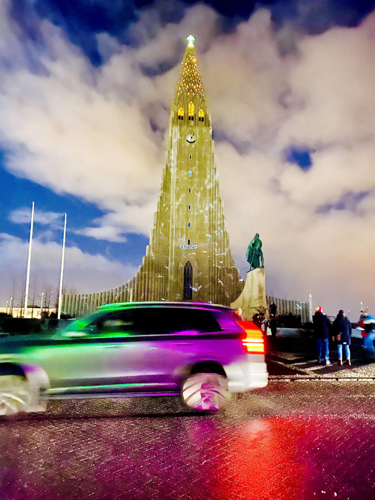 The church in the Reykjavik city center stands 244 feet high is visible throughout the city day and night. The landmark church opened in 1986 and took 41 years to build. In front is a statue of explorer Leif Erikson that was a gift from the United States in 1930. (Andrea Brown / The Herald)