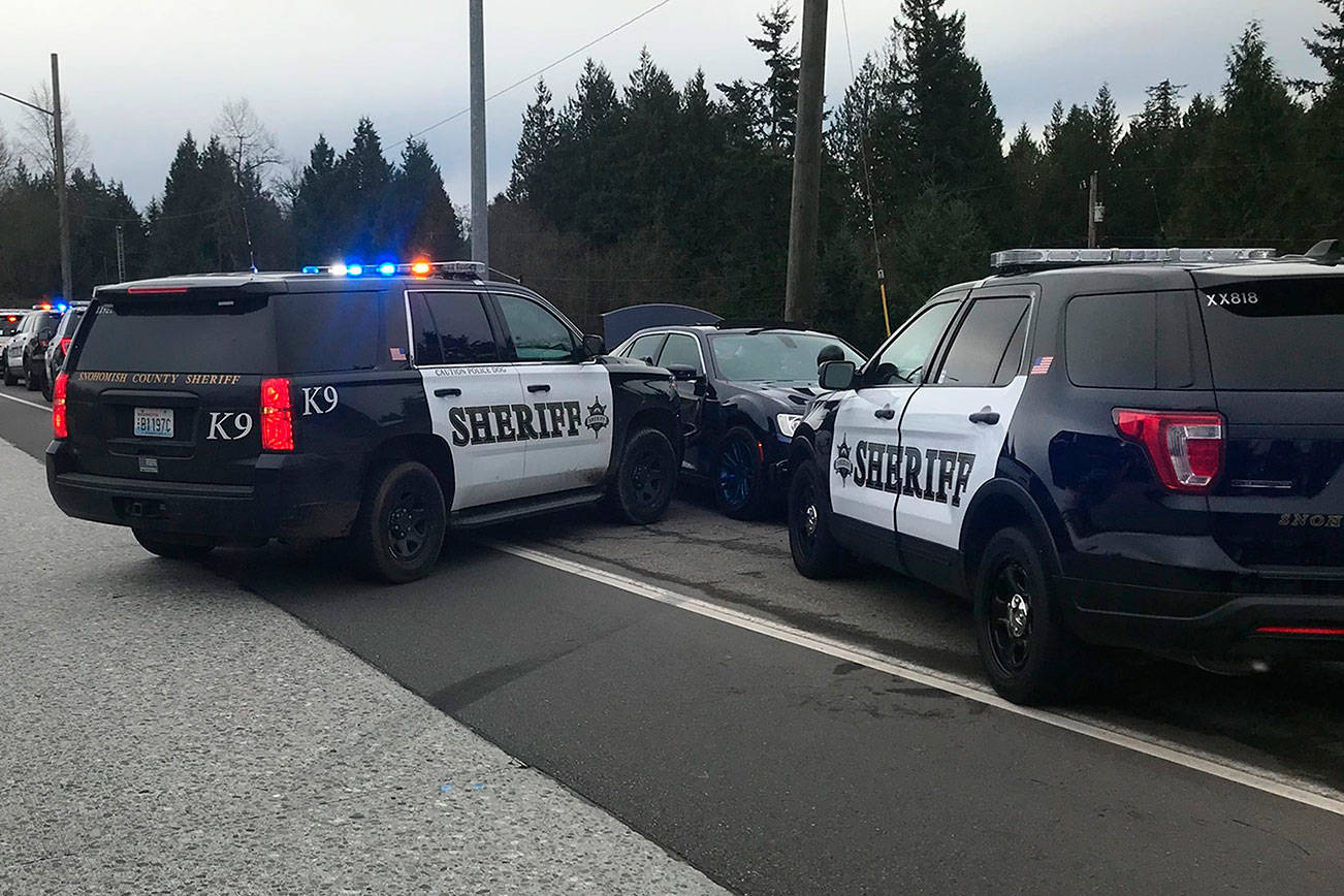 A man led police on a high speed chase through north Snohomish County on Thursday, Dec. 10, 2020.  (Snohomish County Sheriff's Office)