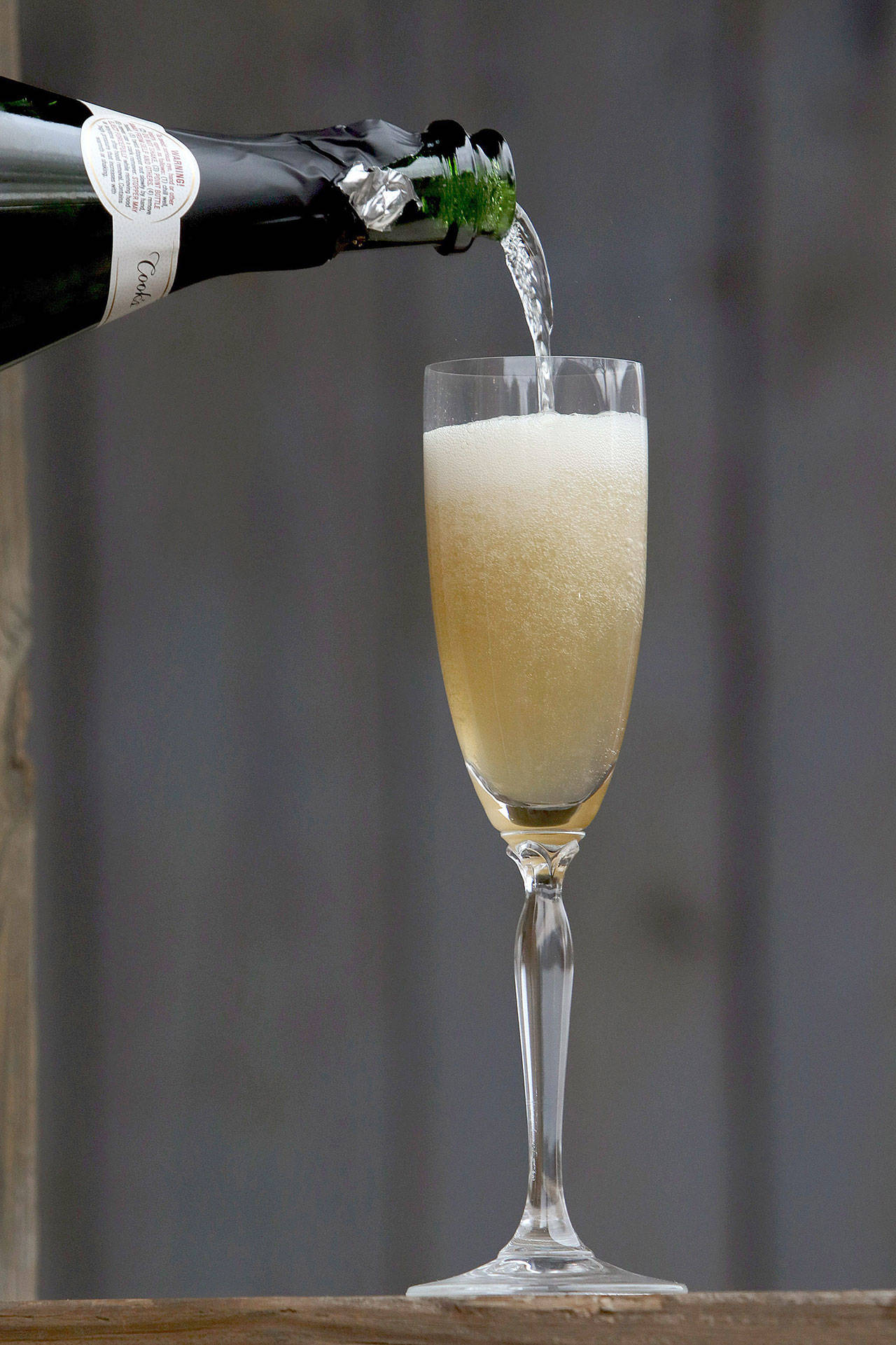 The Cognac French 75 mixes brandy and sparkling wine. (Hillary Levin / St. Louis Post-Dispatch)