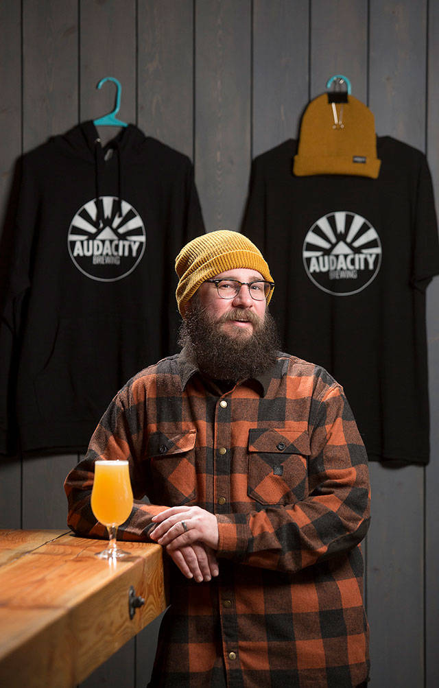 Matt and Jill Wurst opened Audacity Brewing in December 2020 and are now managing to stay open during the COVID-19 restrictions on businesses. (Andy Bronson / The Herald)