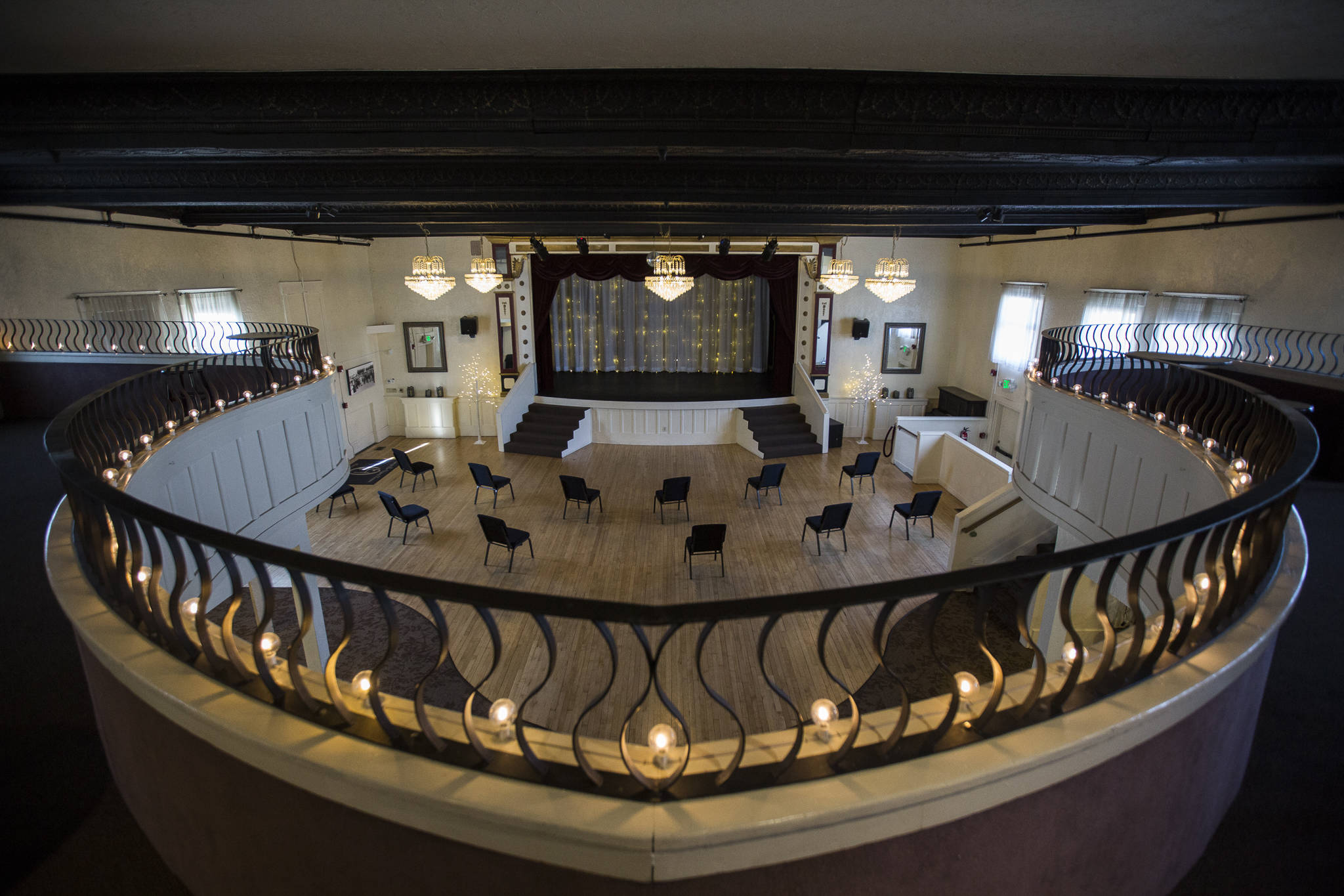 The Marysville Opera House was originally built in 1911 and has recently been renovated. It is now partially open after a year-long shutdown due to the pandemic. (Olivia Vanni / The Herald)