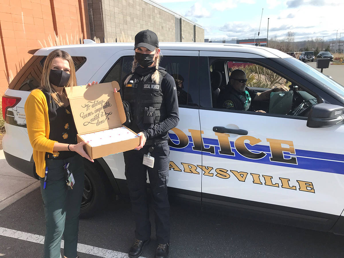 Smokey Point Behavioral Hospital delivered 10 Narcan kits to the Marysville PD earlier this March, giving them another valuable tool in their emergency response kits when helping local residents.