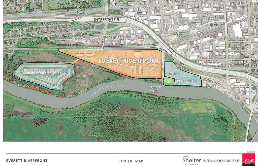 The 70-acre former landfill site being redeveloped for commercial and residential use could see construction begin soon. (Shelter Holdings)