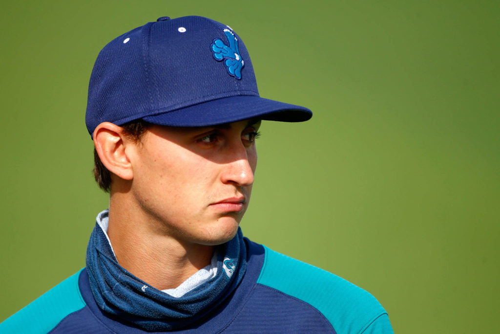 George Kirby is one of three top-100 prospects on the AquaSox roster. (Kevin Clark / The Herald)