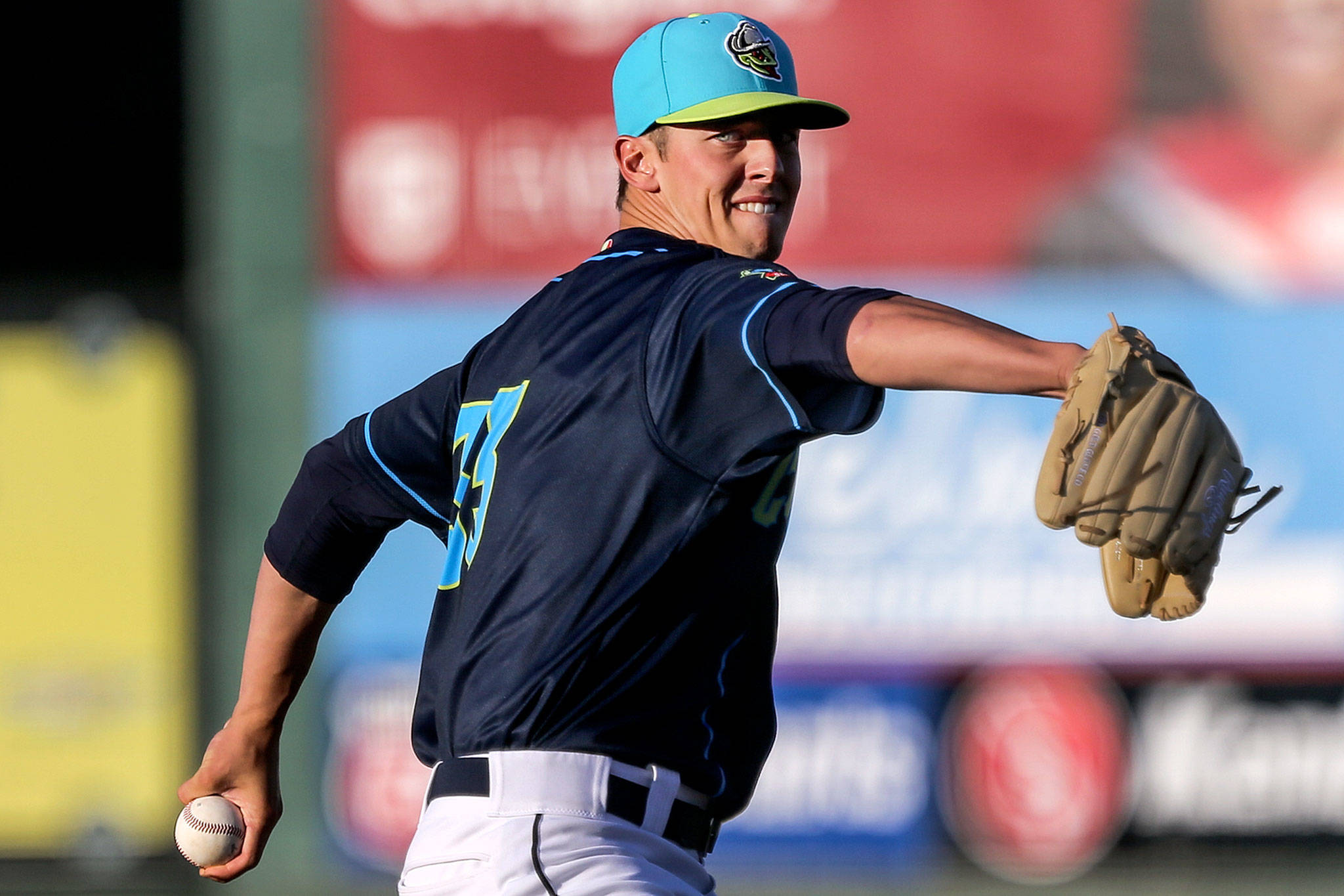 Brandon Williamson, pictured here in 2019, is another highly regarded pitching prospect on the AquaSox roster. Kevin Clark / The Herald)