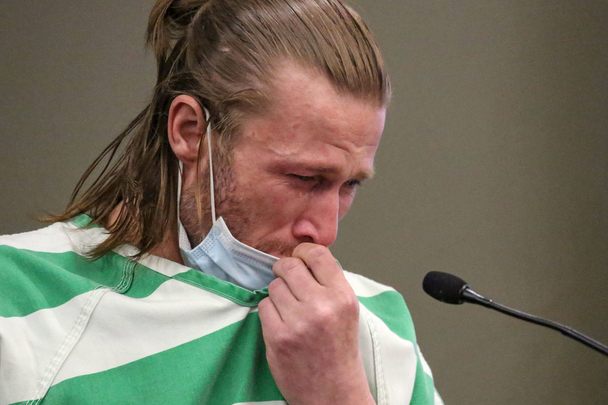 Elmer Nash is sentenced to 10 years Thursday in Snohomish County Superior Court for the 1987 arson at Everett Community College that killed firefighter Gary Parks. (Kevin Clark / The Herald)