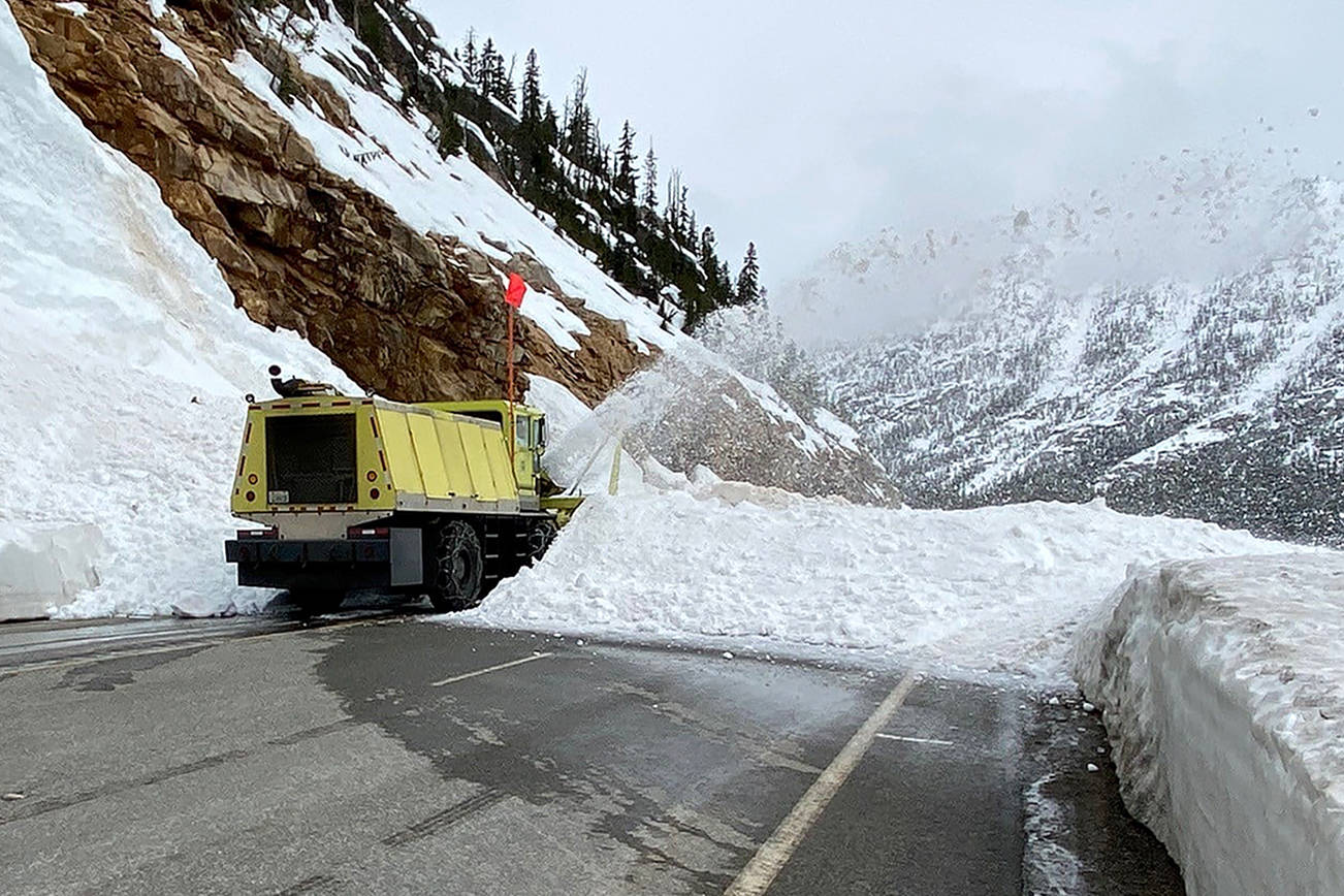 SR 20 North Cascades Highway will reopen after its at 1 p.m. Wednesday, May 5. (Washington State Department of Transportation)