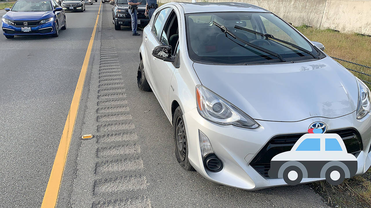 Law Enforcement from Tacoma to Marysville were engaged in a pursuit for 80 miles with a stolen Toyota Prius. (Washington State Patrol)