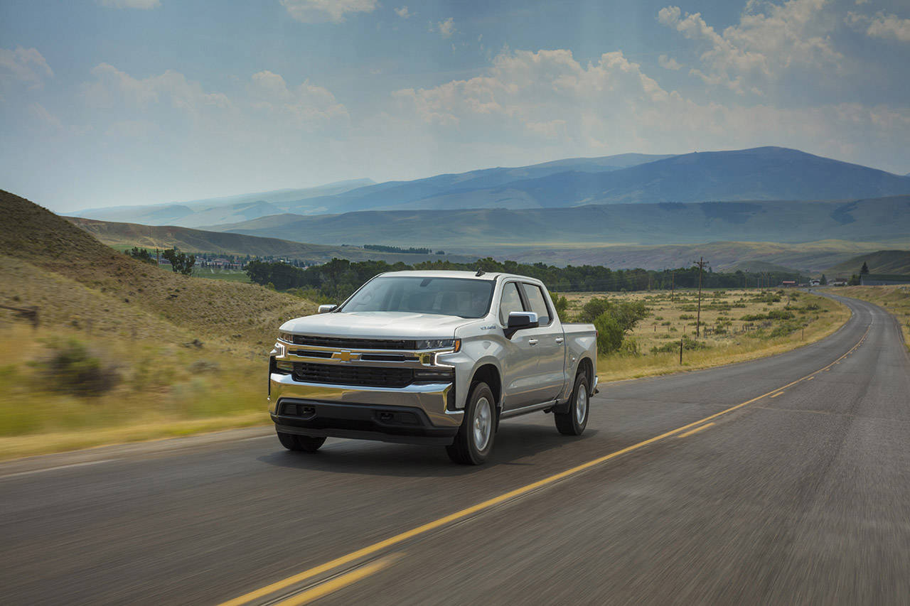 The 2021 Chevrolet Silverado 1500 is available in eight trim levels. The LT model is shown here. (Manufacturer photo)