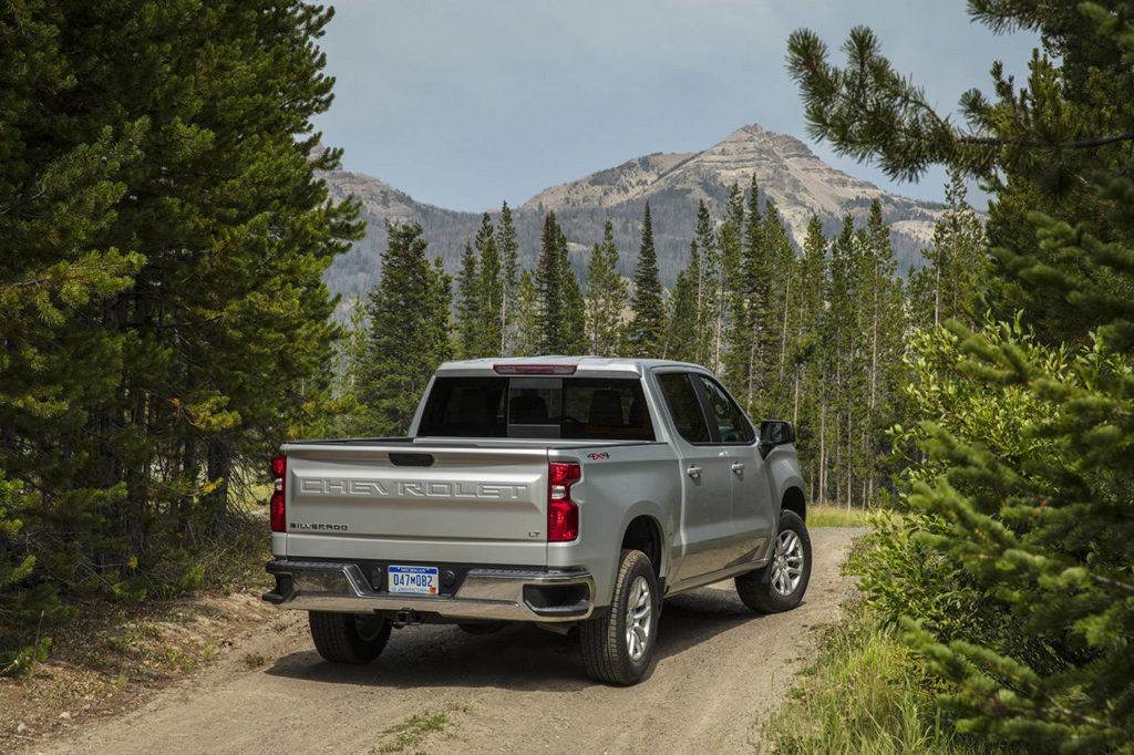 The 2021 Chevrolet Silverado 1500 full-size pickup has deft handling and good maneuverability in tight spots. (Manufacturer photo)