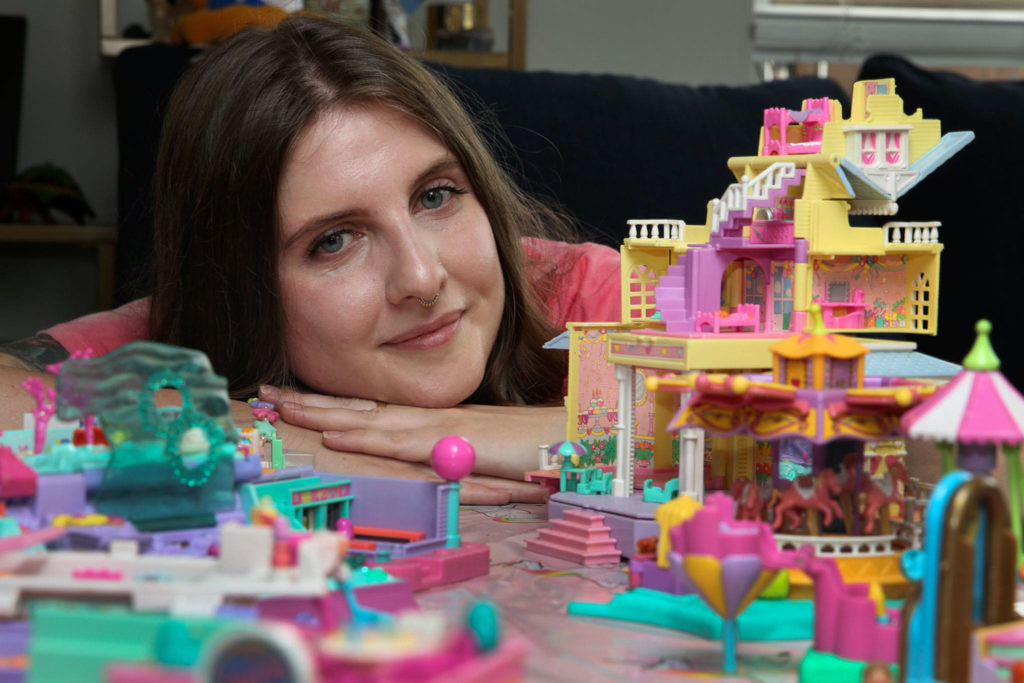 Lake Stevens resident and Polly Pocket collector Krystyna Roman has amassed more than 100 playsets since starting the hobby in 2018. (Kevin Clark / The Herald)