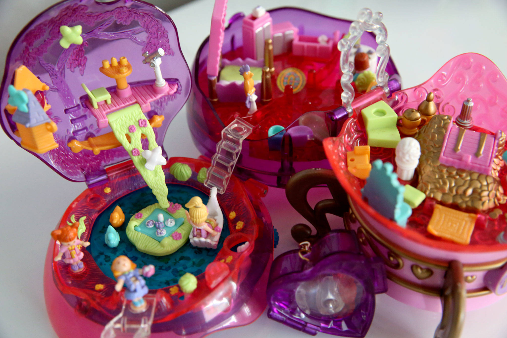The Jewel Magic Ball is one of the 122 playsets in Roman's collection. (Kevin Clark / The Herald)