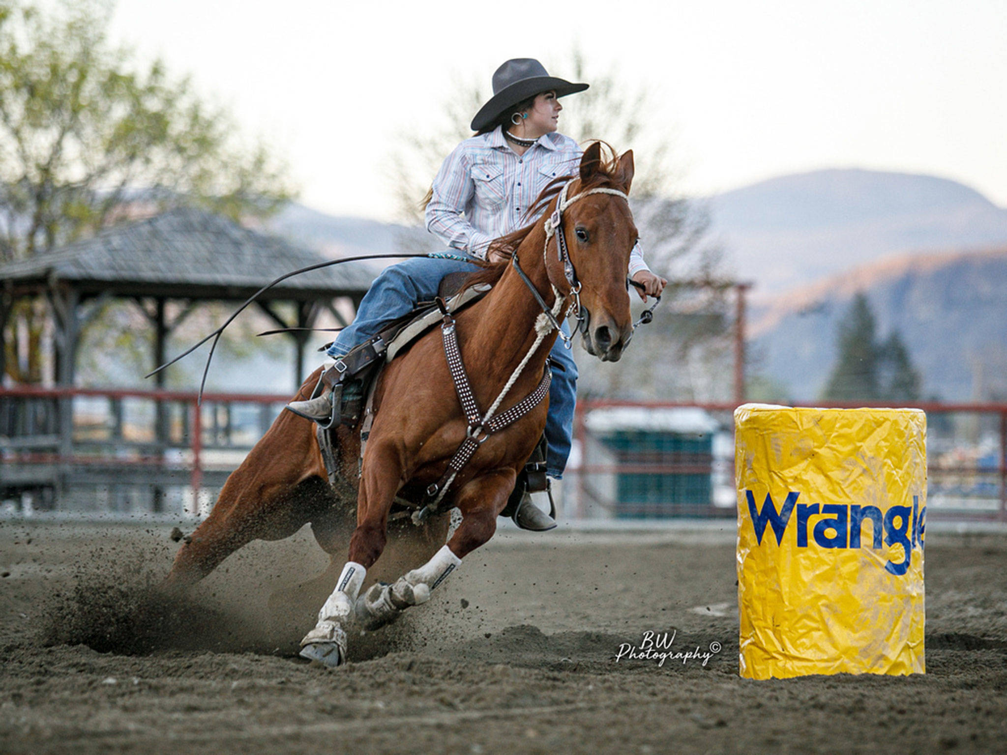 Snohomish High School senior Georgia McAuliffe was crowned the All-Around Cowgirl by the Washington State High School Rodeo Association. (BW photography)