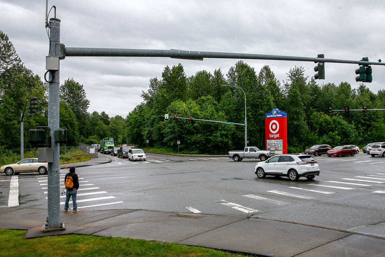 WSDOT is set to begin work building a second northbound lane on Highway 9 from Market Place to Fourth Street NE.  (Kevin Clark / The Herald)