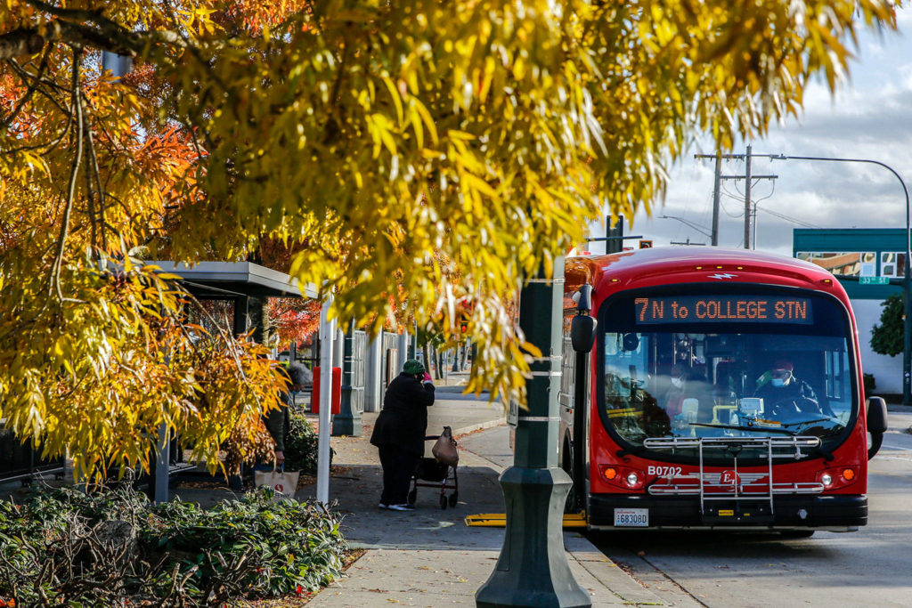The Everett City Council asked staff on June 9 to form a steering committee to evaluate a merger with Community Transit. A clear decision will help Everett Transit staff plan capital projects, such as investments in electric buses and related infrastructure. (Kevin Clark / Herald file)