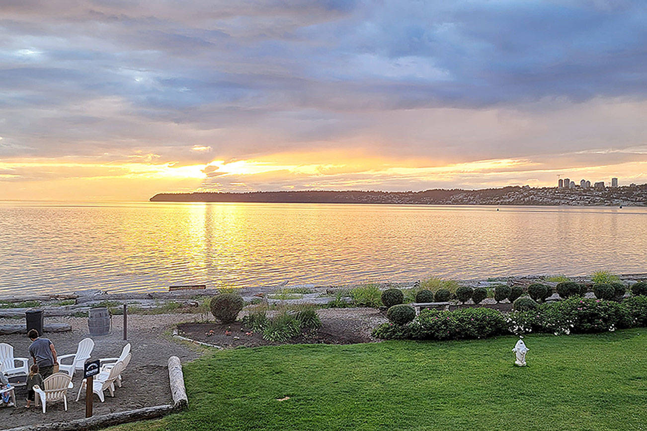 Caption: Sunset views from Semiahmoo Resort will make you feel like you're officially on vacation.
