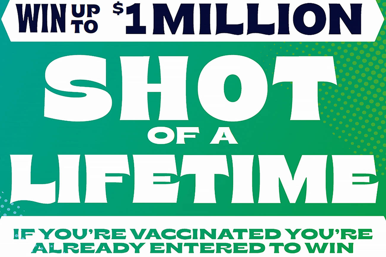 Vaccine lottery promotional (Washington State Governor's Office)