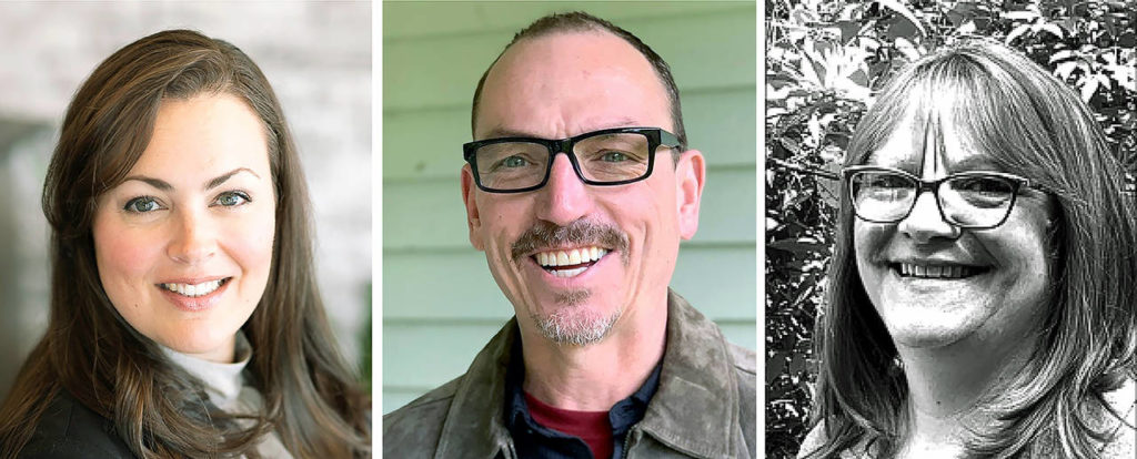 Vying for Position 5 on the Snohomish City Council: Kari Zimmerman (left), David Flynn (center), Becky Perkins.