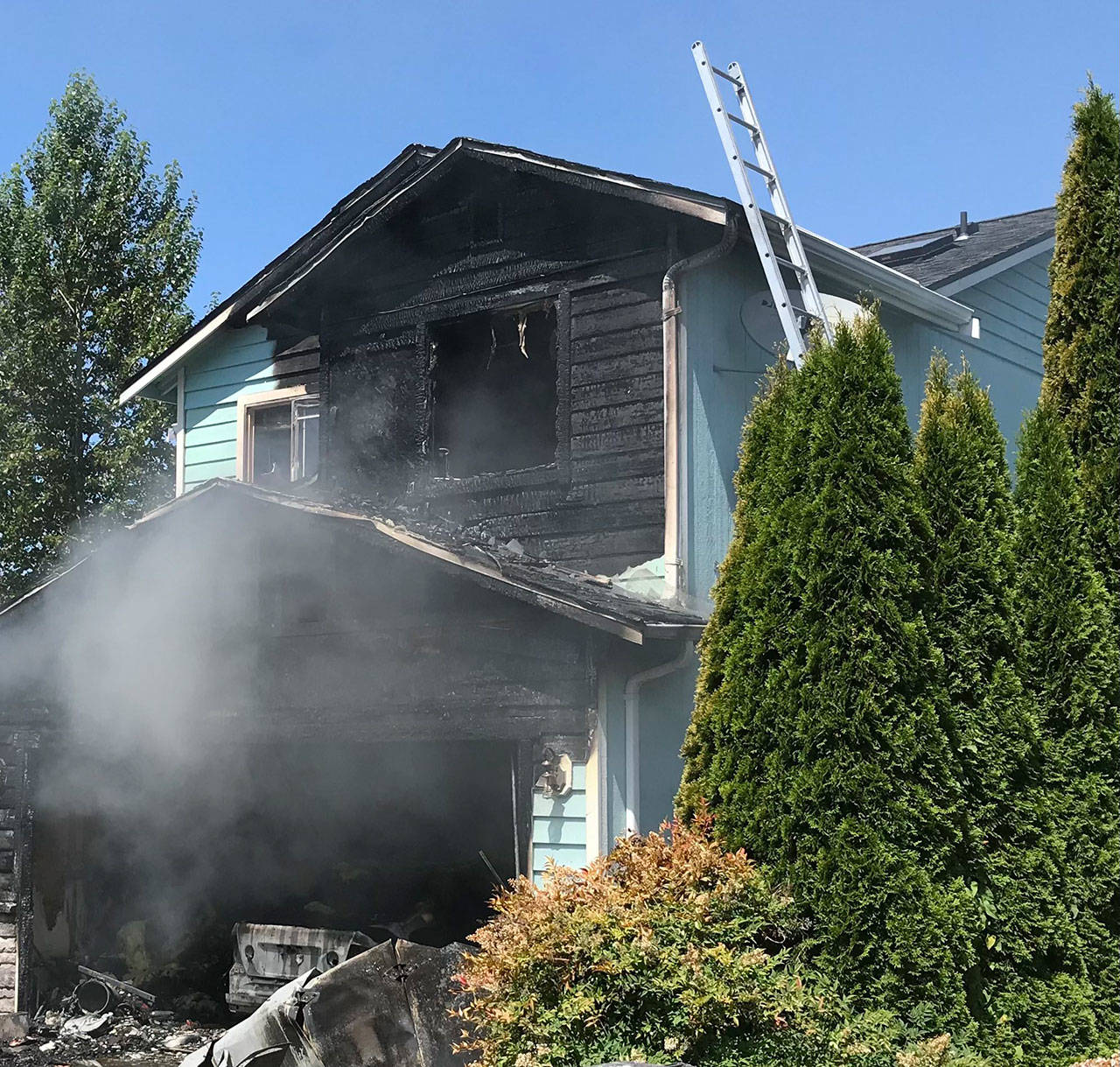 A house caught fire Friday afternoon in Marysville. (Marysville Fire District)