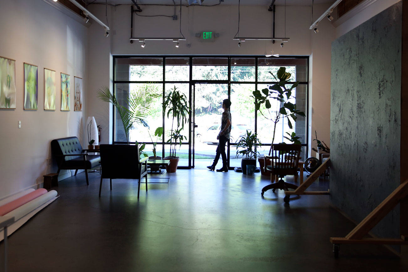 Mark Malijan, owns and operates Helios Studios, a new business that offers photographers, videographers and others 1,440 feet of studio space in Edmonds. (Kevin Clark / The Herald)