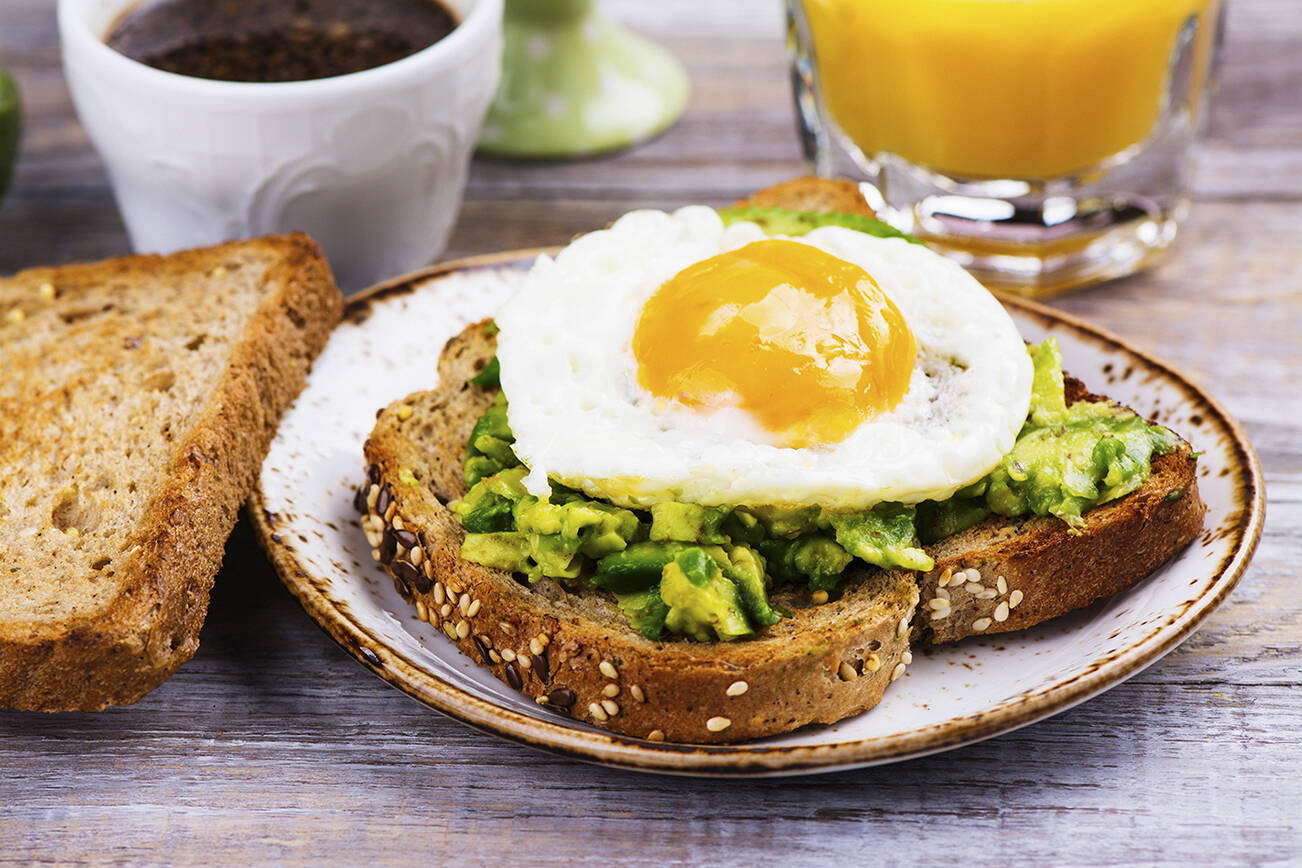 Have you tried mashed avocado smeared on whole grain toast? Top it with a cooked egg for more protein. (Getty Images)