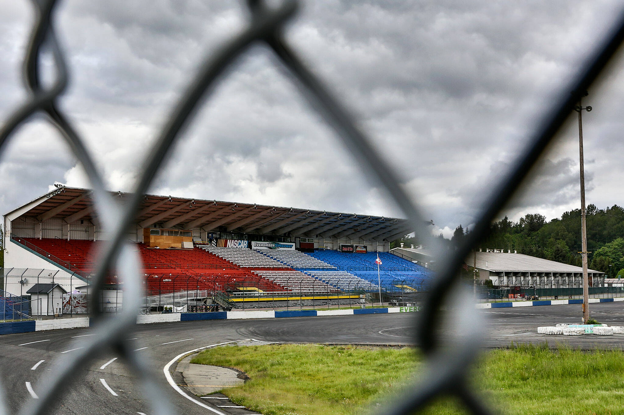 The Central Welding Supply 75 scheduled for this past Saturday at Evergreen Speedway in Monroe was canceled due to rain. (Kevin Clark / The Herald)