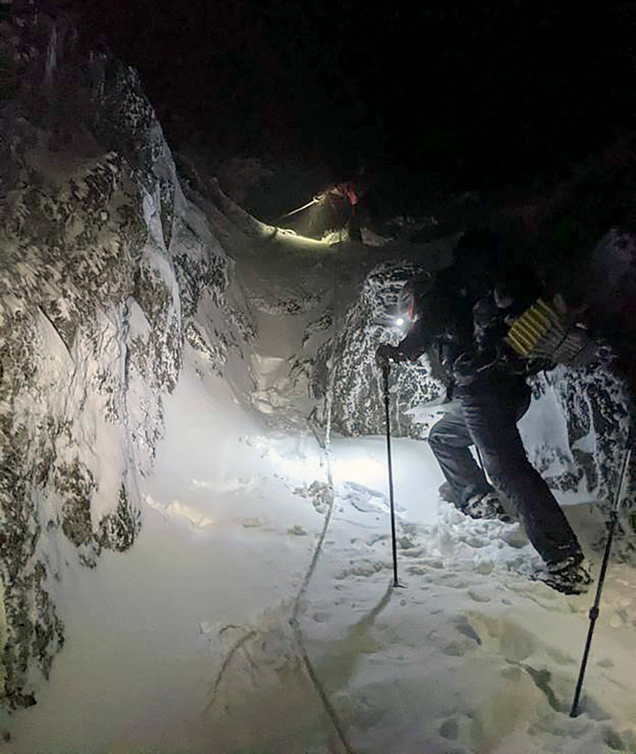The Snohomish County Sheriff's Office Search and Rescue unit and volunteers from Snohomish County Volunteer Search and Rescue completed a 20-hour overnight rescue mission on Three Fingers Mountain at about 7 a.m. Monday. (Snohomish County Sheriff's Office)